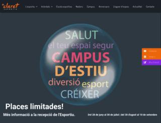 esportiuclaret.com screenshot