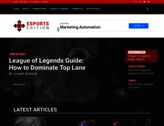 esportsedition.com screenshot