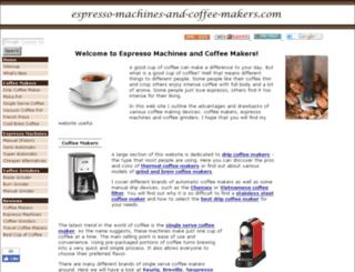 espresso-machines-and-coffee-makers.com screenshot
