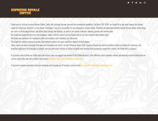 espressoroyale.com screenshot