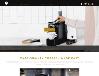 espressotoria.com screenshot
