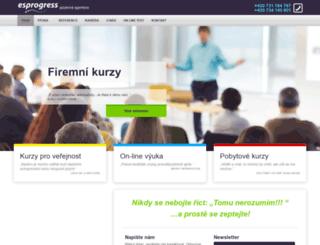 esprogress.cz screenshot