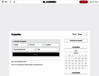 esquelas.elcorreo.com screenshot