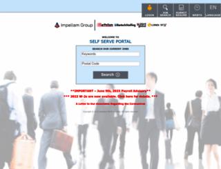 ess.impellam.com screenshot