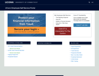 ess.uconn.edu screenshot