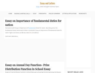 essayandletters.com screenshot