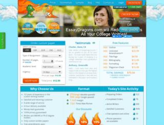 essaydragons.com screenshot