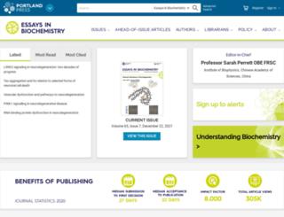 essays.biochemistry.org screenshot