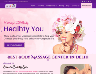 essencebeautyspa.com screenshot