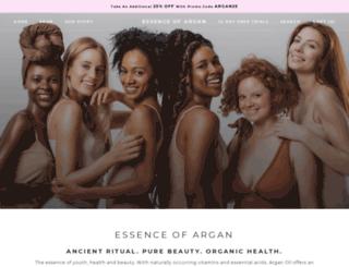 essenceofargan.com screenshot