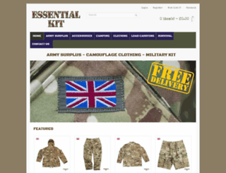 essential-kit.co.uk screenshot