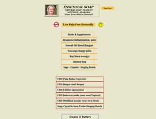 essential-soaps.com screenshot