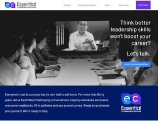 essentialcomm.com screenshot