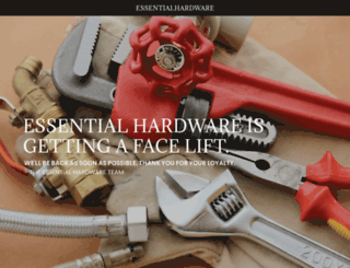 essentialhardware.com screenshot