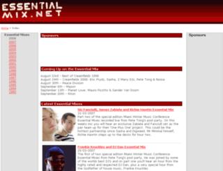 essentialmix.net screenshot