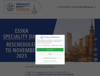 esska-specialitydays.org screenshot