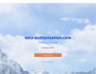 esta-authorization.com screenshot
