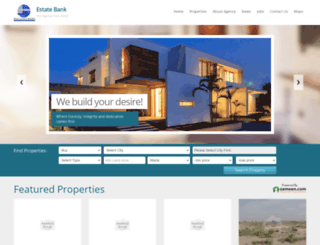 estatebankdha.com screenshot