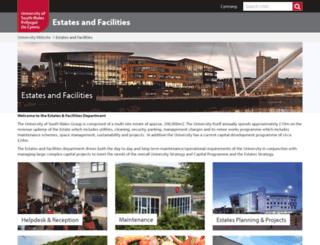 estates.southwales.ac.uk screenshot