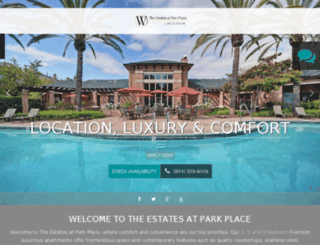 estatesatparkplace.prospectportal.com screenshot