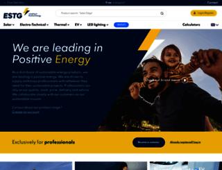 estg-zonnepanelen.nl screenshot