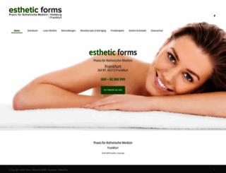 esthetic-forms.de screenshot