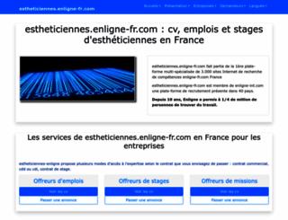 estheticiennes.enligne-fr.com screenshot