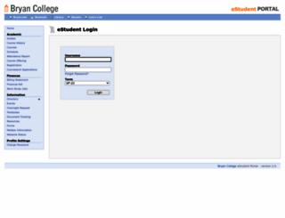 estudent.bryan.edu screenshot
