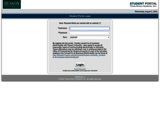 estudent.husson.edu screenshot