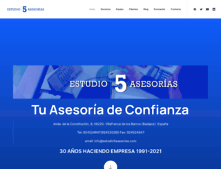 estudio5asesorias.com screenshot