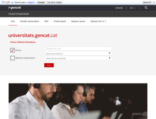 estudisuniversitaris.gencat.cat screenshot
