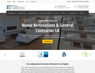 esvconstruction.com screenshot