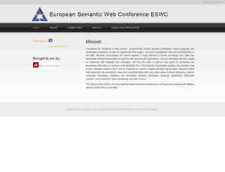 eswc-conferences.org screenshot