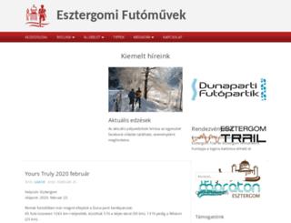 esztergomifutomuvek.hu screenshot