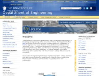 et.utoledo.edu screenshot