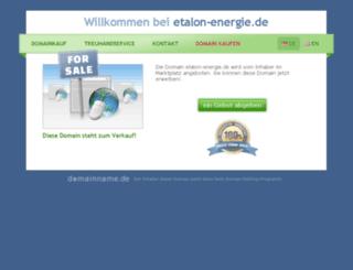 etalon-energie.de screenshot