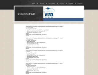 etaonlinetravel.yolasite.com screenshot
