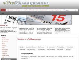 etaxmanager.com screenshot