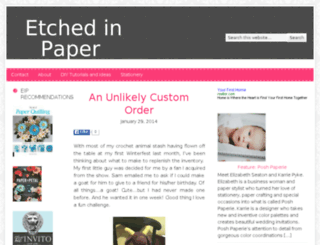 etchedinpaper.com screenshot