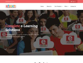 eteach.co.in screenshot