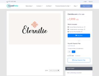 eternitie.com screenshot