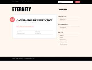 eternityspain.wordpress.com screenshot