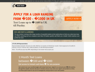 etextloan.co.uk screenshot
