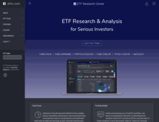 etfresearchcenter.com screenshot