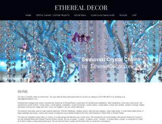 etherealdecor.com screenshot