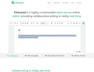 etherpad.com screenshot