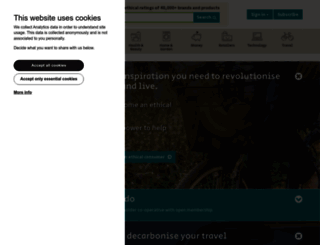 ethicalconsumer.org screenshot