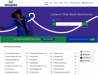 ethiojobs.com screenshot