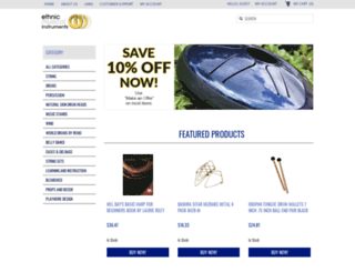 ethnicmusicalinstruments.com screenshot