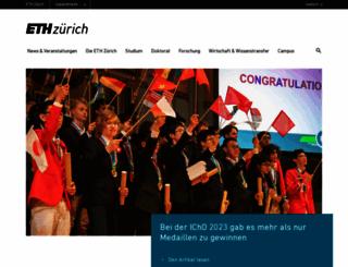 ethz.ch screenshot